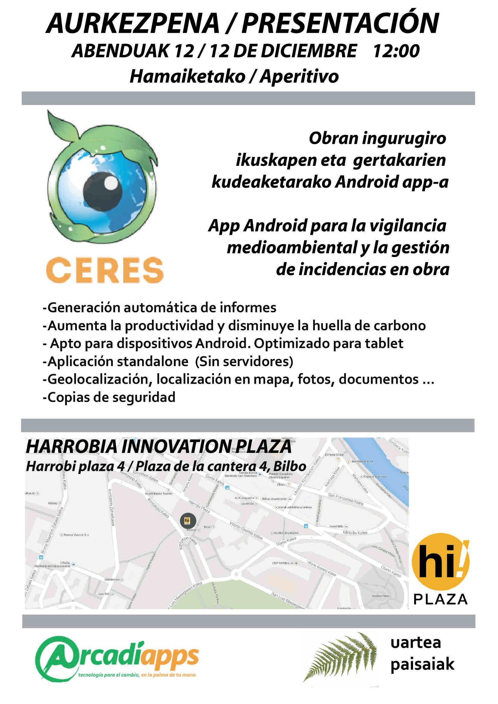 Presentación de CERES en hi!Plaza
